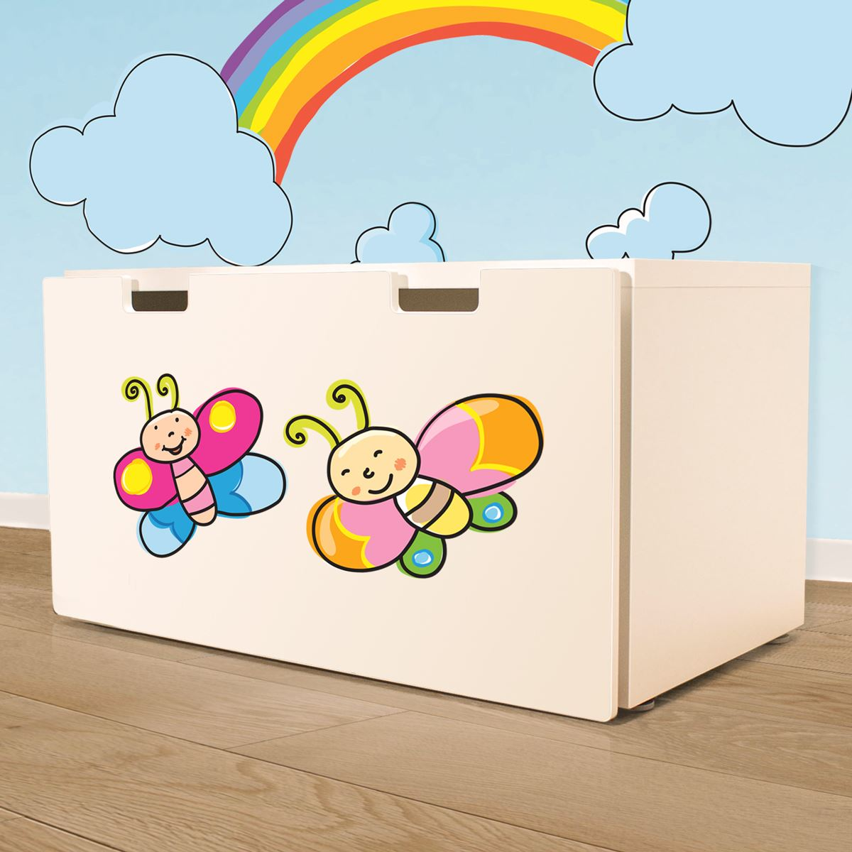 Adesivi murali farfalline sorridenti leostickers for Planner cameretta